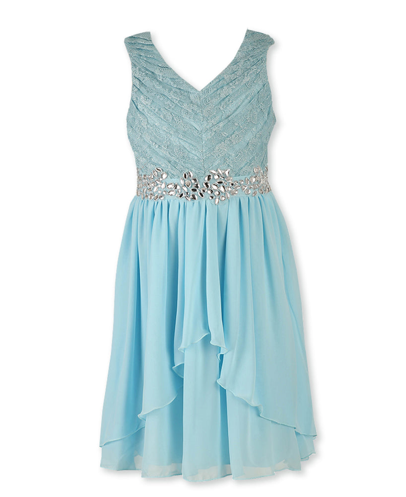 Designer Sequence Dress  In Spring Blue