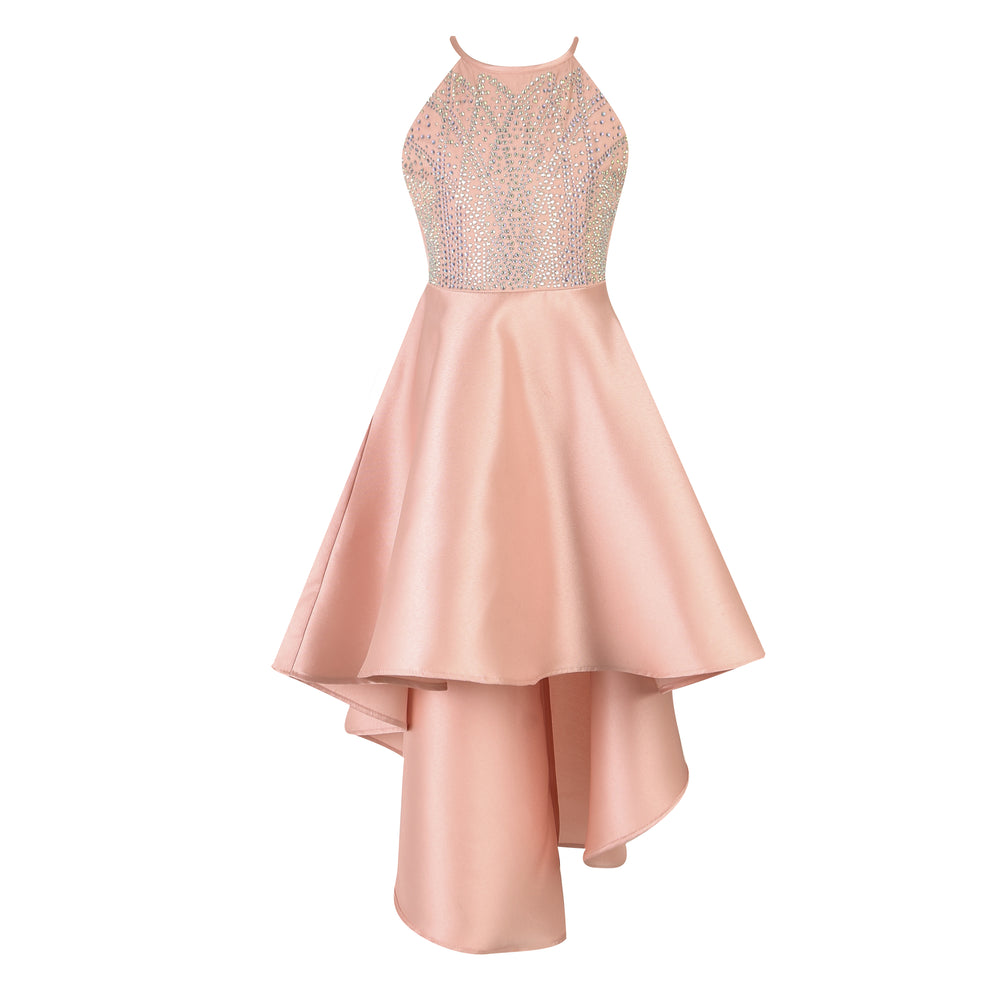 Paparazzi Cotoure Dress Simple Peach Hi Low