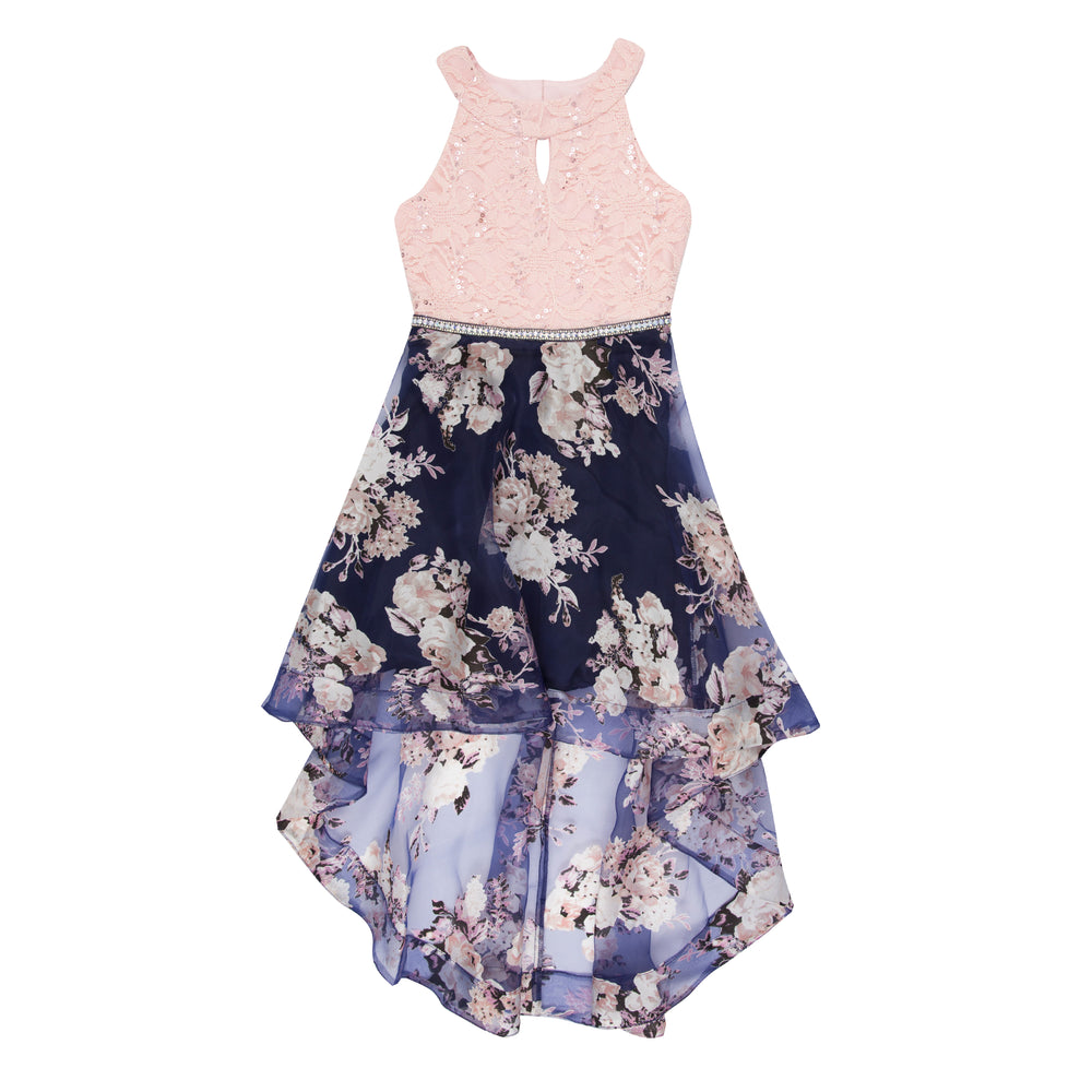 Paparazzi Cotoure Dress Pink & Navy Floral