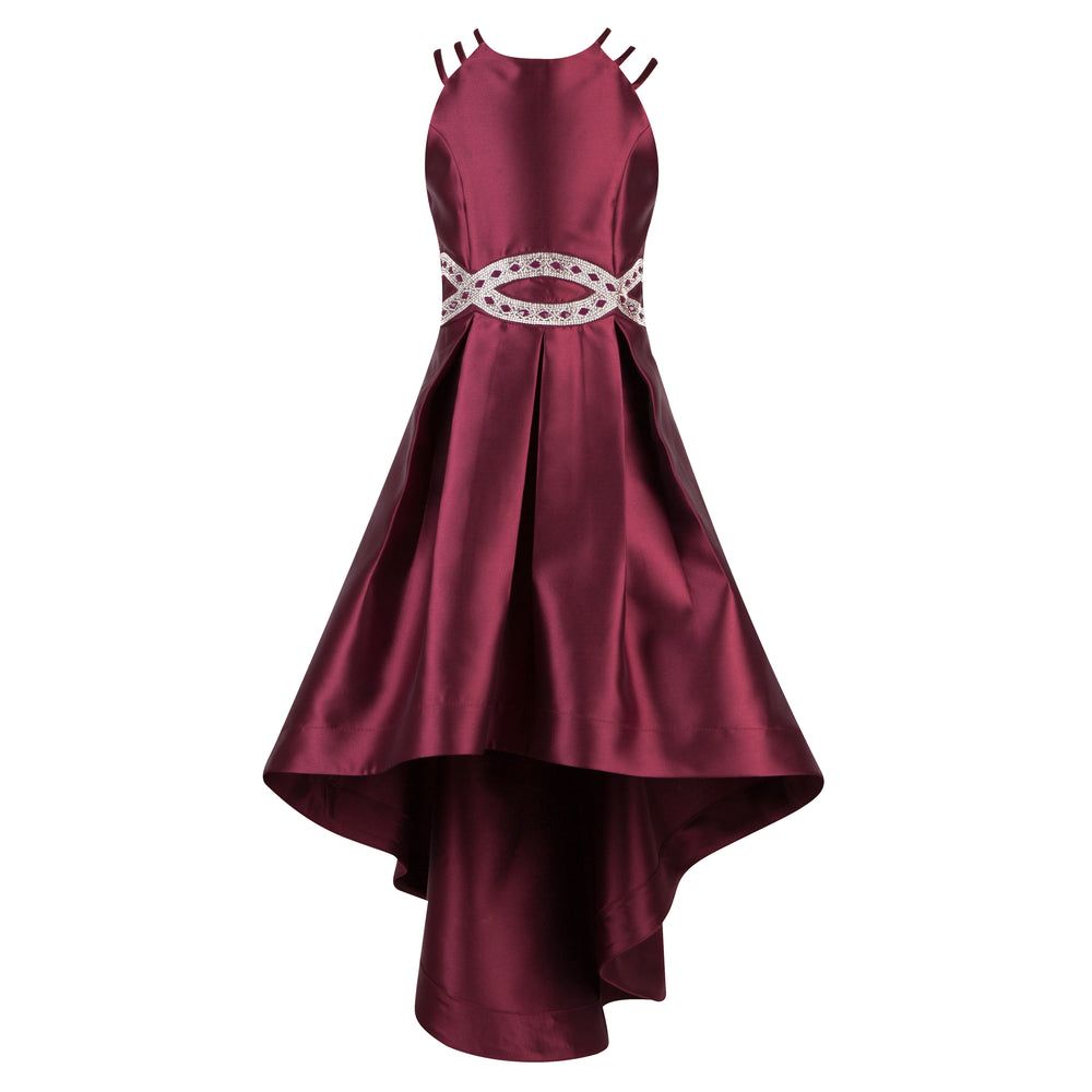Burgundy and Gold Graduation Dress