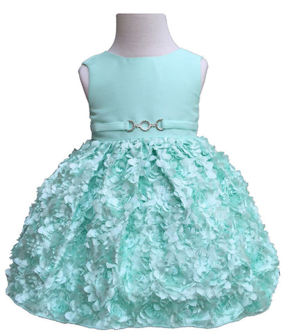 Baby Mint Satin Dress
