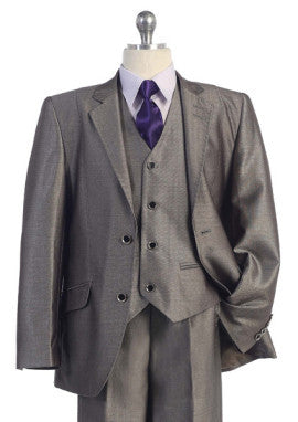 Boys 5 pc Suit in Beige