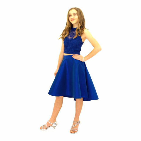 Paparazzi Couture 2 Piece Sequence High Low dress in Royal Blue