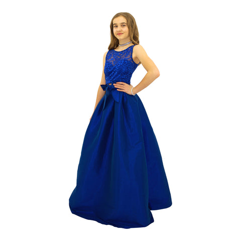 Paparazzi Couture 2 Piece Sequence Full length dress in Electric Blue