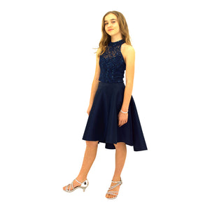 Paparazzi  Sequence High Low dress in Navy
