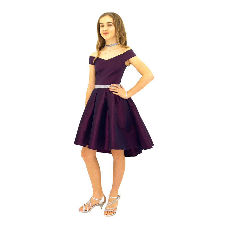 Paparazzi Couture Diamond Accent dress in Deep Purple