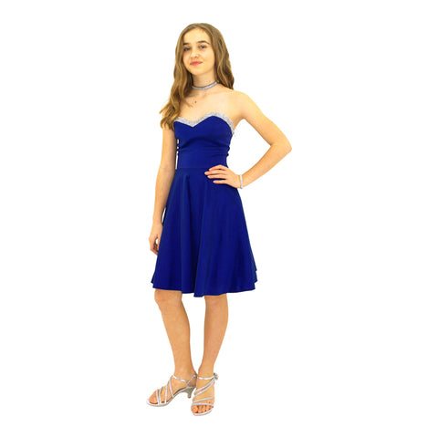 Paparazzi Couture Diamond Accent dress in Royal Blue