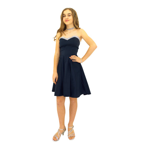 Paparazzi Couture Diamond Accent dress in Navy