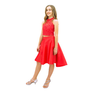 Paparazzi Sequence High Low dress in Coral