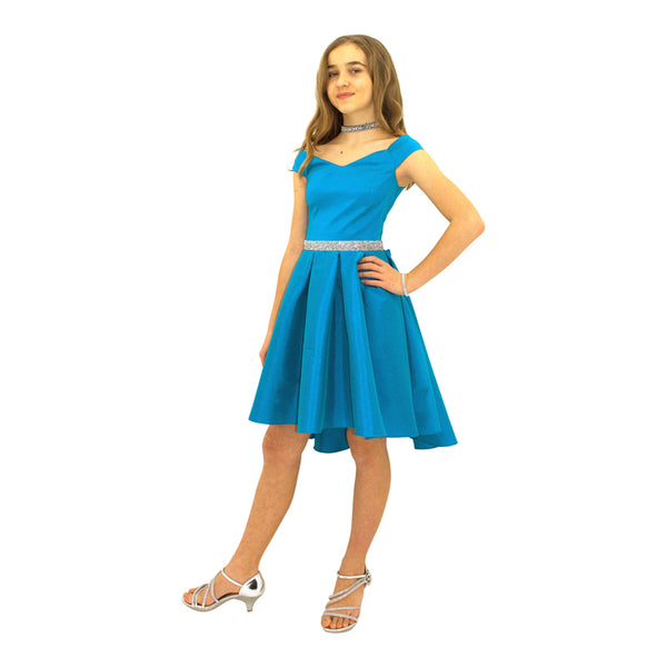 Paparazzi Couture Diamond Accent dress in Turquoise