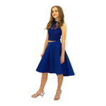 Paparazzi  Sequence High Low dress in Royal Blue