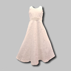 Couture Design Dress in Ivory with Lace Overlay