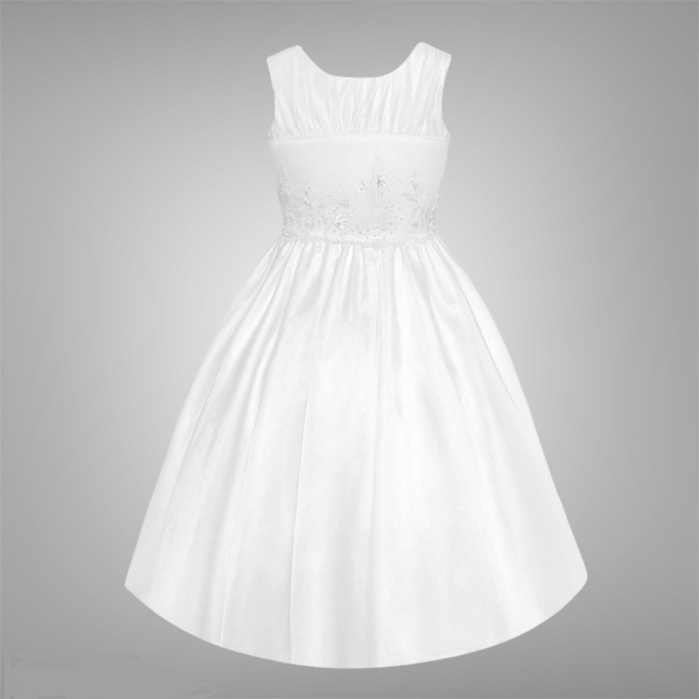 Designer White Double Layer Tulle Communion Girl Dress