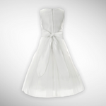 Designer White Satin Embroidered Dress