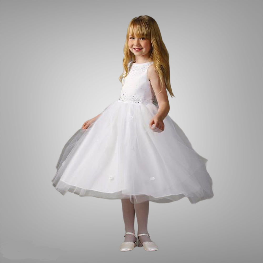 Mishi 3/4 dress in White