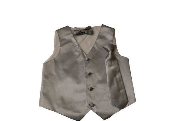 Boys 4 pc Satin Vest Set