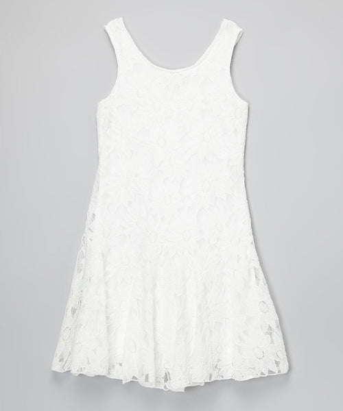 Designer Lace White Dress