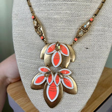 Load image into Gallery viewer, Stella & Dot Hibiscus Necklace with Leaves