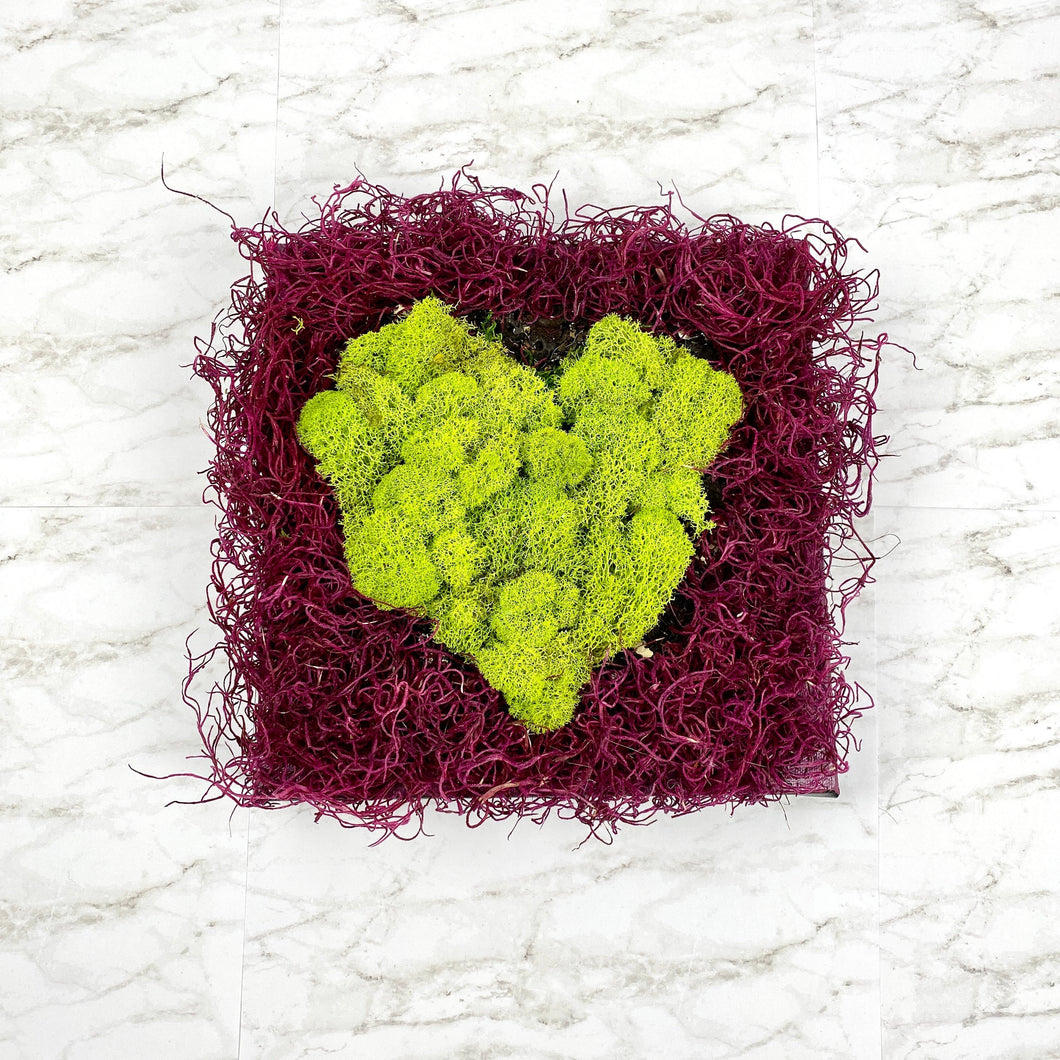 Moss Wall Art 'Mossy Love' | Moss Heart Art Piece | Preserved Moss | Love Gift | Valentine's Gift