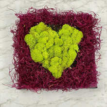 Load image into Gallery viewer, Moss Wall Art 'Mossy Love' | Moss Heart Art Piece | Preserved Moss | Love Gift | Valentine's Gift
