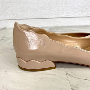 Chloé Laurena Scalloped Leather Flats Size 36.5 US Size 6.5