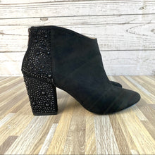 Load image into Gallery viewer, Zara Black Suede Ankle Booties Embellished Size 9