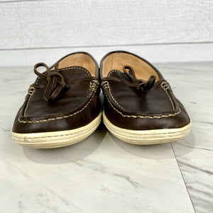 TOD'S Brown Leather Deck Shoes Size 5.5