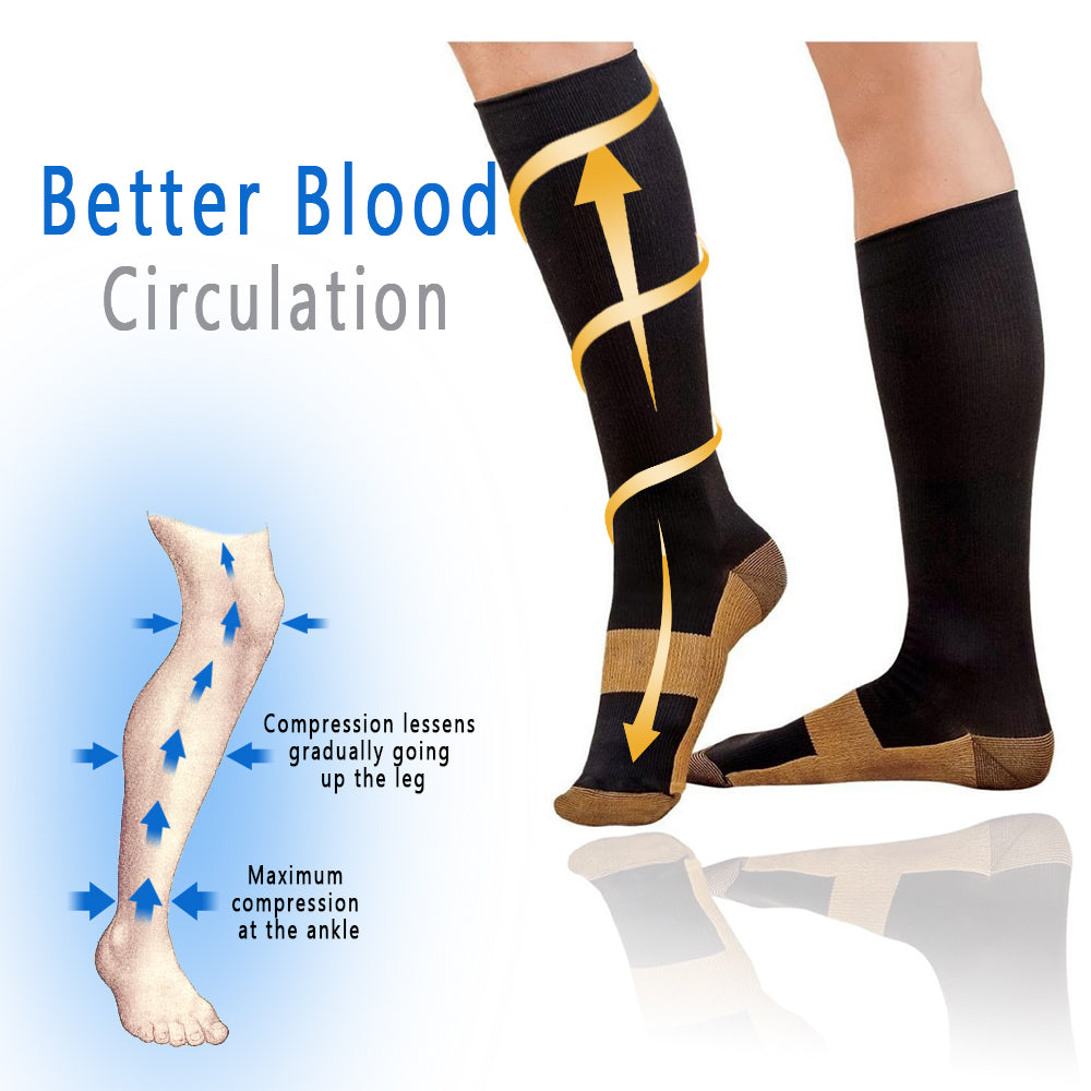 Pain Relief Copper Compression Socks