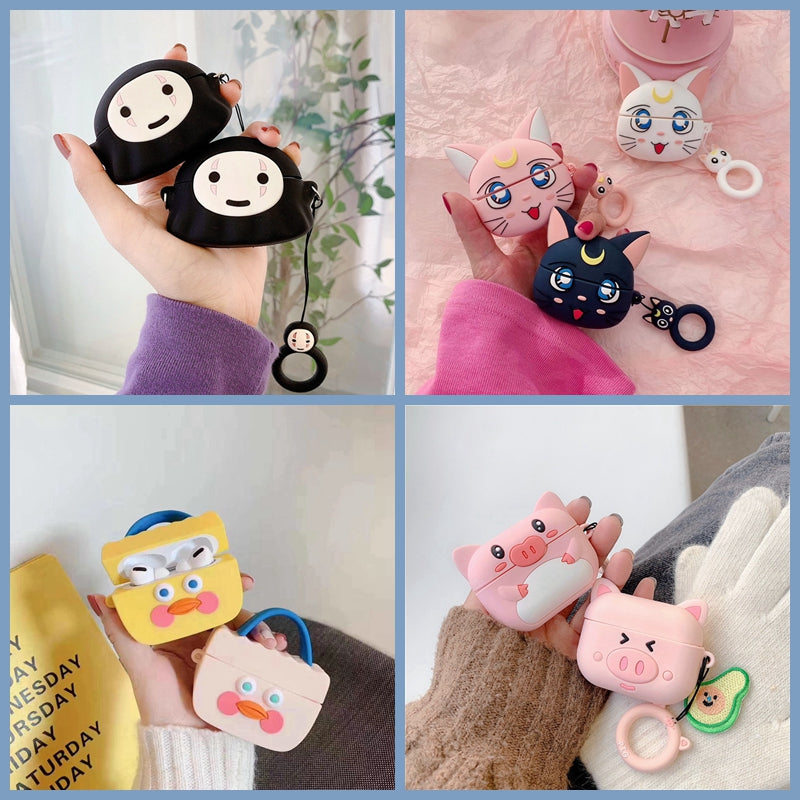 Cute Anime Cartoon Earphone Cover For AirPods