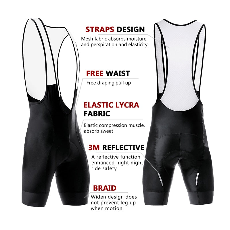 Silicon Grippers at Leg Classic Bib Cycling Shorts