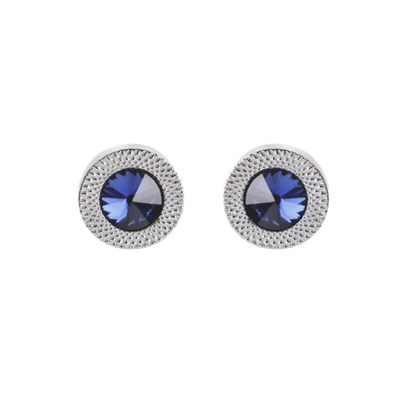 Blue Crystal Prismatic Cuff Earrings For MEN