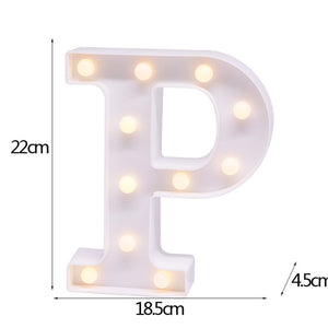 English Alphabet LED Light Decor