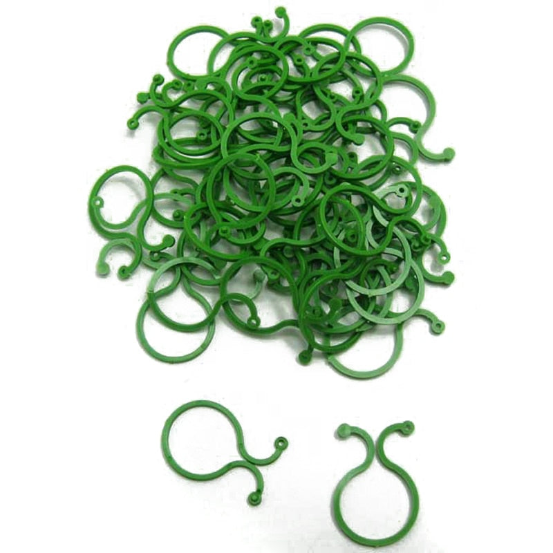 Mayitr 100pcs Garden Vegetable Plant Support Binding Clip Gardening Greenhouse Clip Supplies