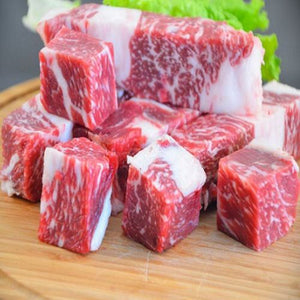 250g USDA Prime Short Ribs Boneless Cubed (Frozen)