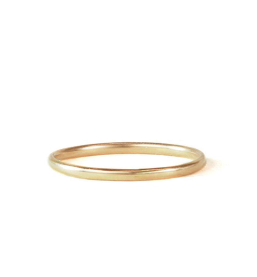 Christina Kober Smooth 14k Gold Wish Stacker