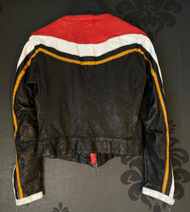Artico Red Leather Motorcycle Jacket