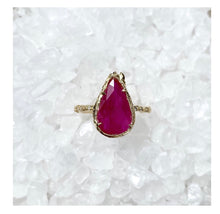 Load image into Gallery viewer, Elisabeth Bell 14k Gold Ruby & Diamond Ring