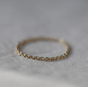 Christina Kober 14k Gold Chain Ring