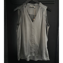 Load image into Gallery viewer, Sleeveless Silk Top w/ Stud Detail