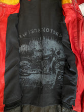 Load image into Gallery viewer, Artico Red Leather Motorcycle Jacket