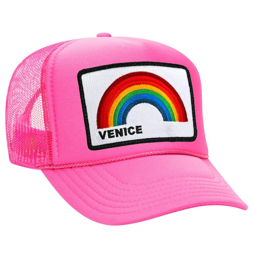 Aviator Nation Neon Pink Trucker Hat