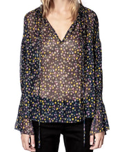 Load image into Gallery viewer, Zadig & Voltaire Sheer Print Top