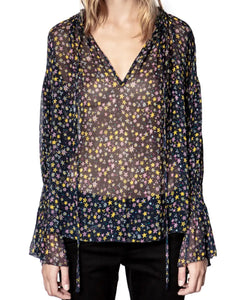 Zadig & Voltaire Sheer Print Top