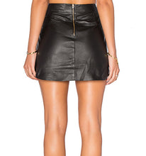 Load image into Gallery viewer, Karina Grimaldi Leather Mini Skirt