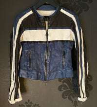 Load image into Gallery viewer, Artico Navy Leather Motorcycle Jacket