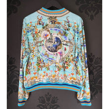 Load image into Gallery viewer, Camilla Reversible Silk Bomber Jacket size L
