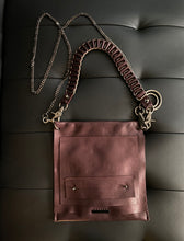 Load image into Gallery viewer, David Galan Eggplant Leather Bag