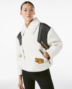 Frame Off White Multi Fleece Mix Jacket