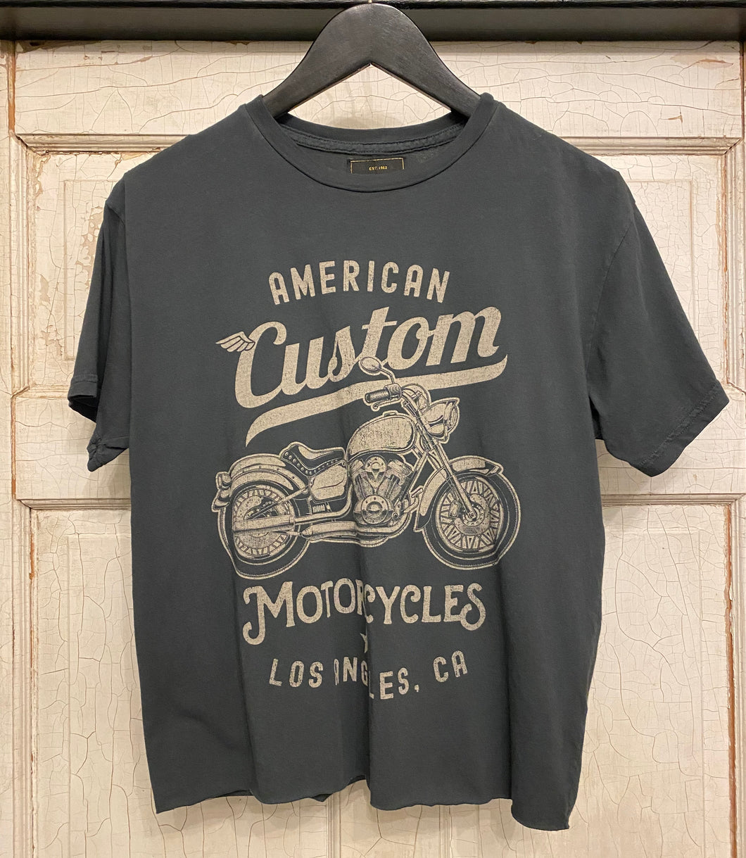 Retro Brand Cropped Motorcycle Tee