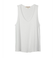 Load image into Gallery viewer, AMO Sunday Tank White Slub
